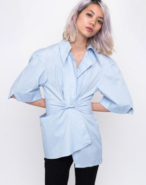 House of Sunny The Thinker Shirt Muted Blue