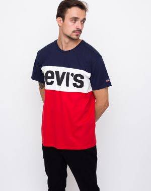 Levi´s® Colorblock Peacoat / Marshmallow / Chinese Red / Black Text