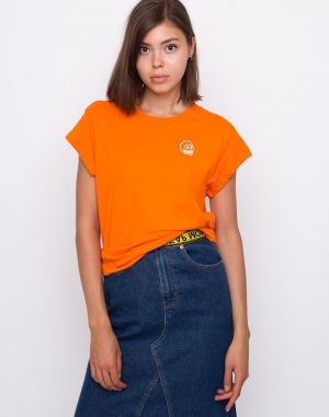 Cheap Monday Screen Top Tiny Skull Signal Orange