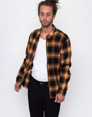 Stussy Shadow Plaid Orange