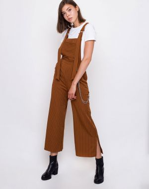 The Ragged Priest Strip Dungaree Tan / Pinstripe