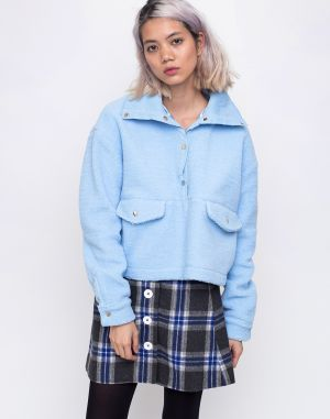 House of Sunny Teddy Pullover Muted Blue