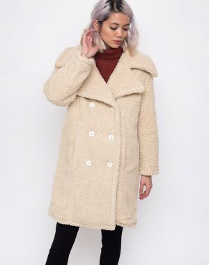 House of Sunny Teddy Upscale Coat Stone Sherling