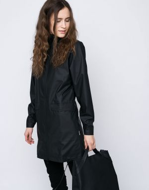 Rains W Coat 01 Black
