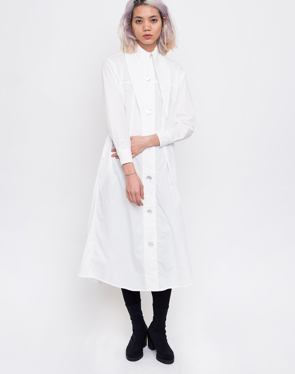 House of Sunny Western Full Length Shacket Mineral White