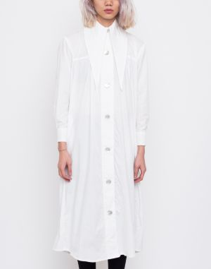House of Sunny Western Full Length Shacket Mineral White galéria