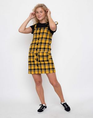 Lazy Oaf Yellow Check Pinny Yellow
