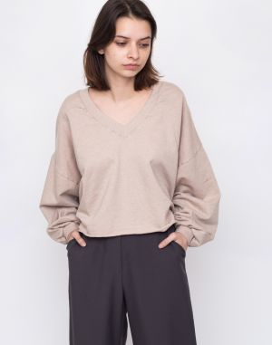 Friday's Project Sudadera Cp Oversized Cropped Sand