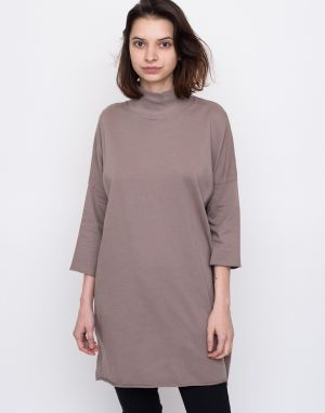 Friday's Project Vestido De Felpa Cuello Perkins Dark Beige