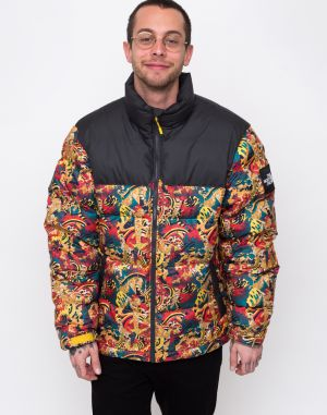 The North Face 1992 Nuptse Jacket Leopard Yellow Genesis Prt
