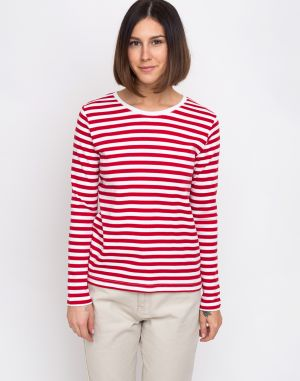 Makia Verkstad Long Sleeve Red/White