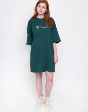 Lazy Oaf Excuse The Mess T-Shirt Dress Green