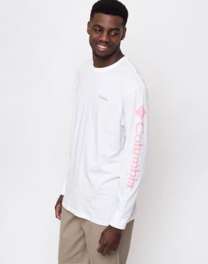 Columbia North Cascades Long Sleeve Tee White/Rosewate