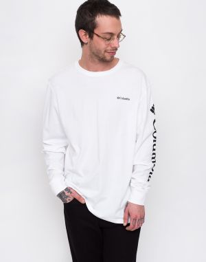 Columbia North Cascades Long Sleeve Tee White