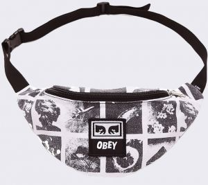 Obey Wasted Hip Bag Zine White Multi