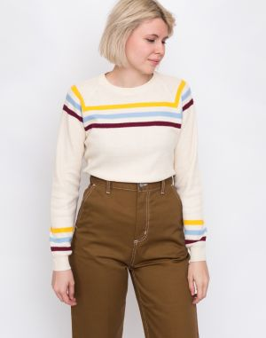 Thinking MU Stripes Oversized Sweater Ecru