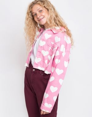 Lazy Oaf All My Heart Jacket Pink