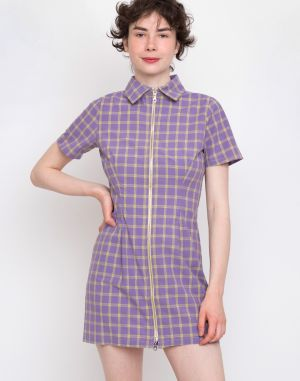 The Ragged Priest Dimension Dress Lilac/Yellow Check