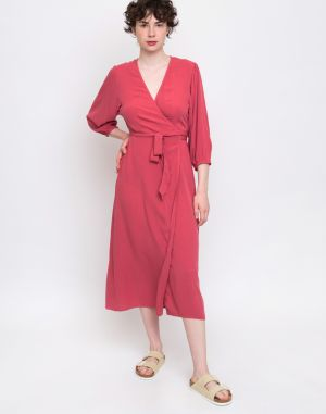 Edited Luane Dress Garnet Rose