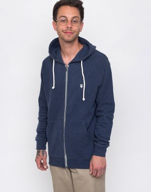 Knowledge Cotton Basic Hood Sweat 1257 Insigna Blue melange