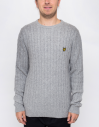 Lyle & Scott Cable D24 Light Grey Marl galéria