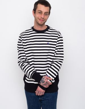 Champion Crewneck Sweatshirt Black & White Stripe