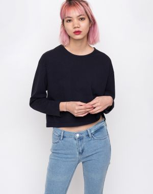 Obey Cropped L/S Tee Off Black