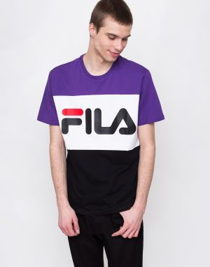 Fila Day Tee Black-Tillandisa/Purple-Bright white
