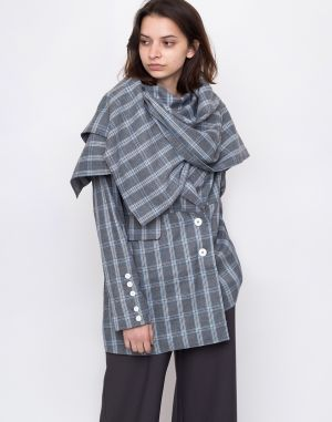 House of Sunny Heritage Scarf Tailored Jacket Academic Check