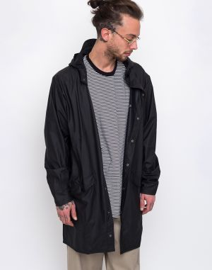 Rains Long Jacket 01 Black