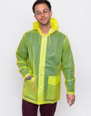 Rains LTD Short Hooded Coat 27 Foggy Neon Yellow