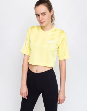 Nike Sportswear Shadow Stripe Top Yellow Pulse/White