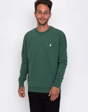 Knowledge Cotton Basic Sweat 1256 Black Forrest melange