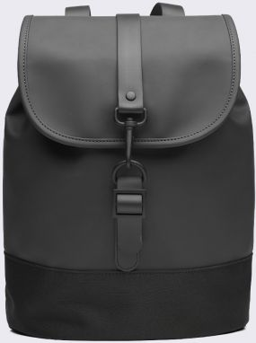Rains Drawstring Backpack 01 Black Malé (do 20 litrov)