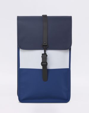 Rains Color Block Backpack Blue/Ice Grey Malé (do 20 litrov)