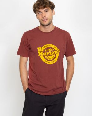 Dr. Martens Lock Up Logo T-Shirt Red