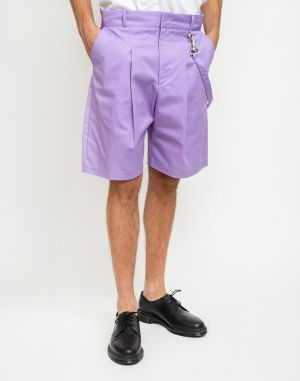 The Ragged Priest Pleat Shorts Lilac