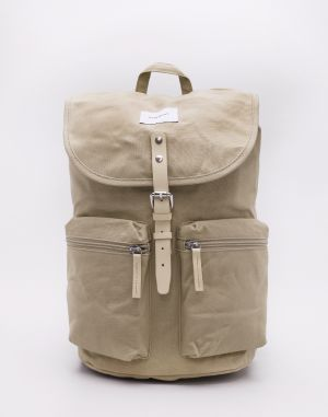Sandqvist Roald Beige with Natural Leather Malé (do 20 litrov)