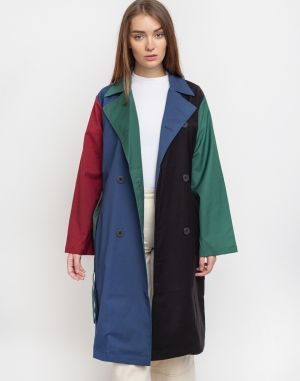 Lazy Oaf Colour Panel Trench Coat Multi