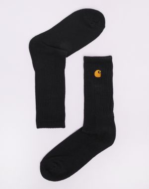 Carhartt WIP Chase Socks Black / Gold