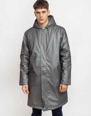 Rains Padded Coat 15 Metallic Charcoal