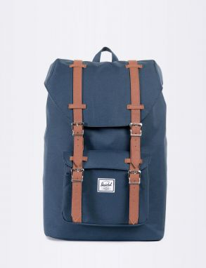 Herschel Supply Little America Mid-Volume Navy/Tan Synthetic Leather Malé (do 20 litrov)