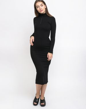 Thinking MU Black Lin Neck Dress Black