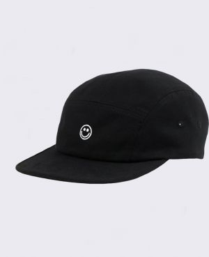 Rotholz Smiley 5-Panel Cap Black