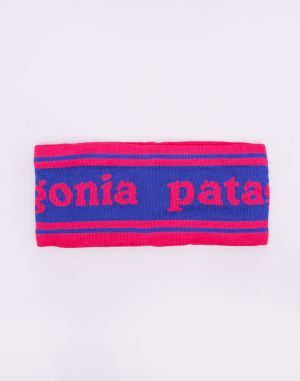 Patagonia Lined Knit Headband Park Stripe Band: Cobalt Blue