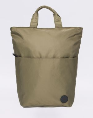 Enter Utility Two-In-One Tote Army Green Heavy Nylon/Black Leather