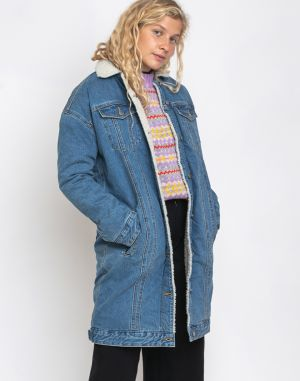 Dr. Denim Nadina Sherpa Jacket Generation Blue