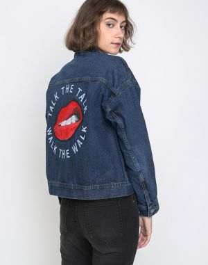 Dr. Denim Maureen Denim Jacket Patch Talk The Talk