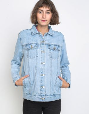 Dr. Denim River Trucker Jacket Light Blue Used