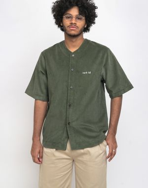 North Hill Baseball Jersey Corduroy Green